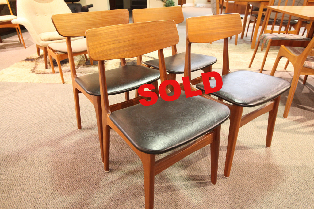 Set of 4 Findahl's Mobler Danish Teak Dining Chairs