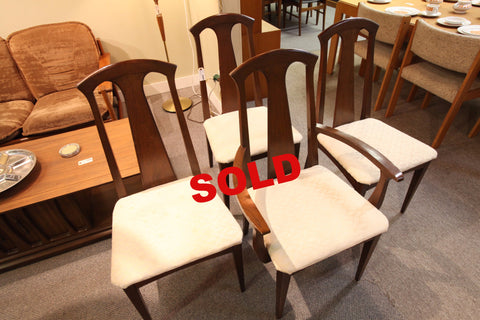 Set of 4 Vintage Walnut Deilcraft Chairs