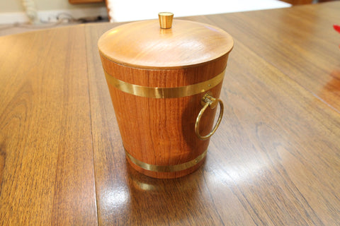 "Small Teak Ice Bucket (9""H)"