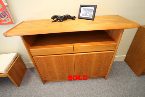 "Surfboard Teak Sideboard w/2 doors, 2 Drawers (53.5""L x 17.5""D x 37.5""H)"