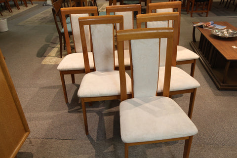 Set of 6 Teak Chairs