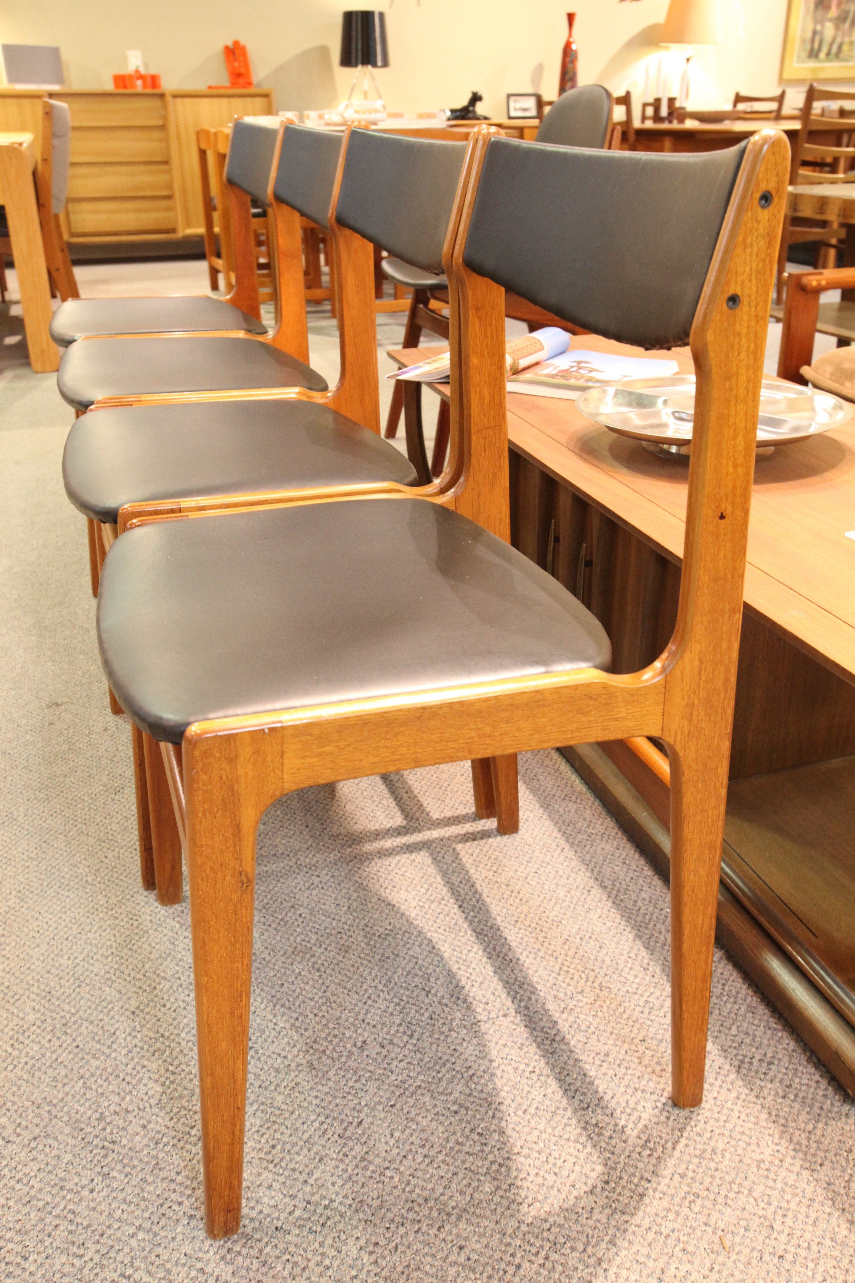 Set of 4 Teak Dining Chairs