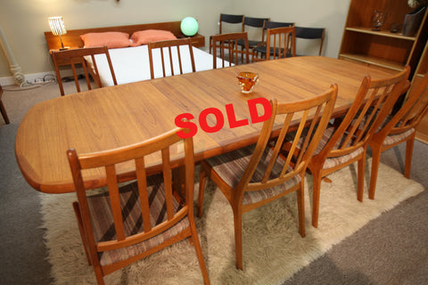 "Large Teak Table w/ 2 Leafs (100"" x 41"") or (62.5"" x 41"")"