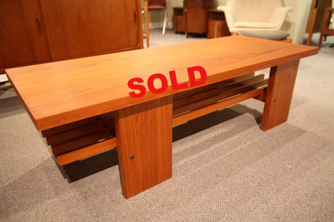 "Beautiful Teak Coffee Table (56""L x 22""W x 17.25""H)"