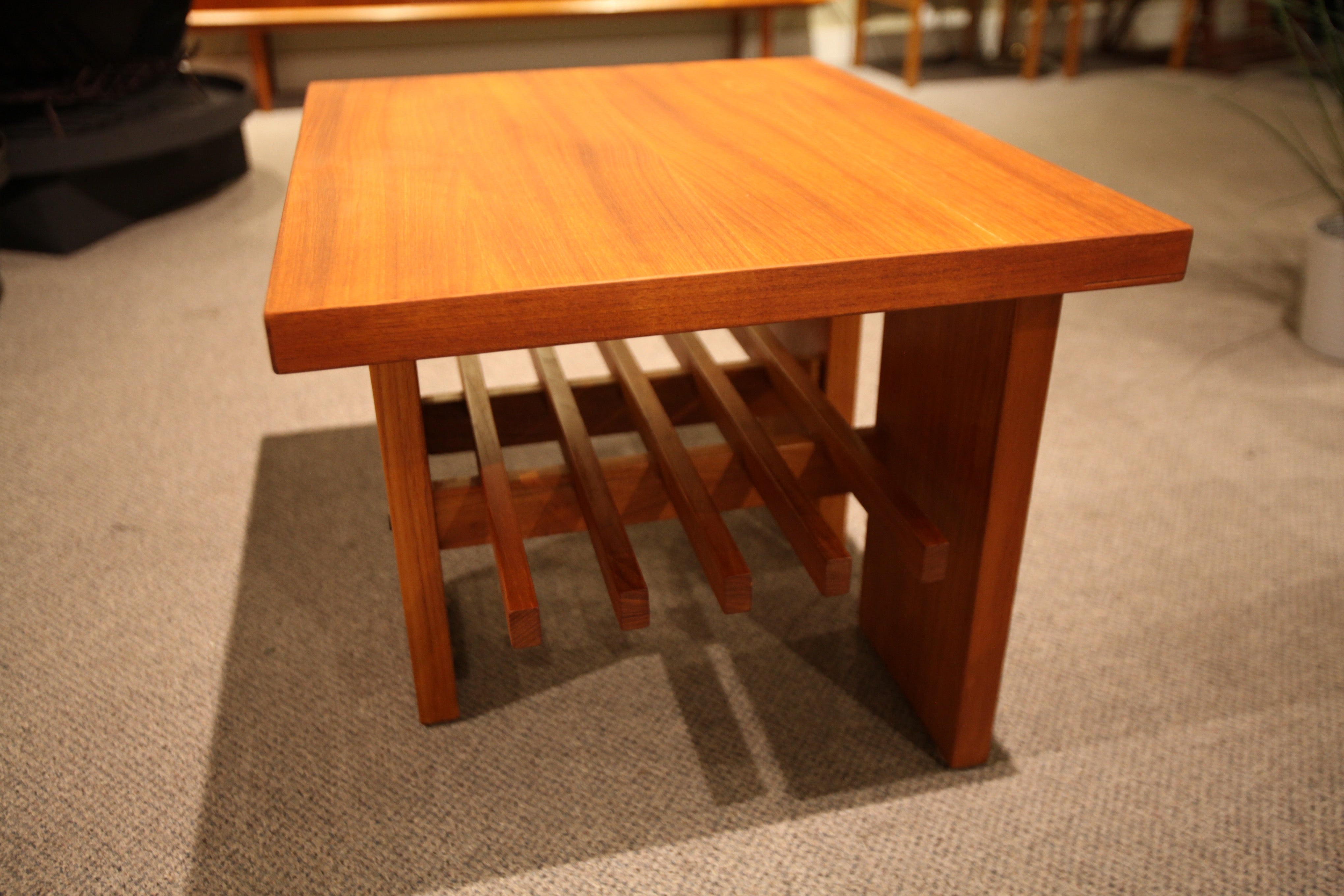 "Beautiful Teak End Table (27"" x 22"" x 19.75""H)"