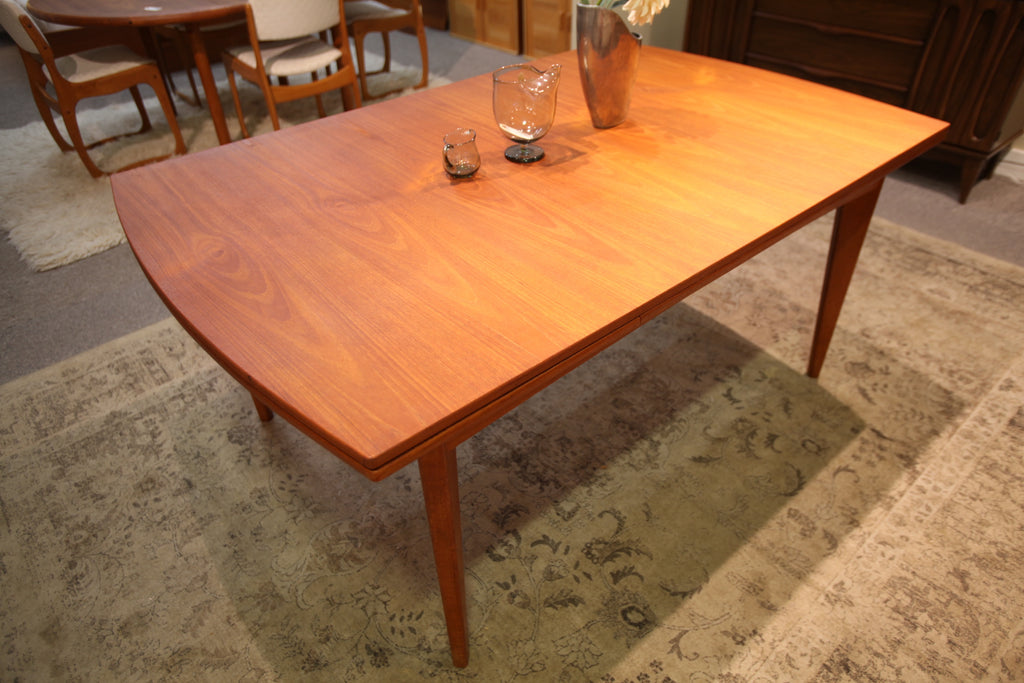 "Unique Danish Teak Extension Dining Table (102.75"" x 42"") or (66"" x 42"")"
