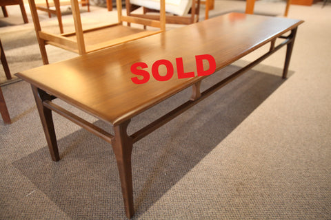 "Vintage Walnut Coffee Table (60""L x 19.5""W x 15""H)"