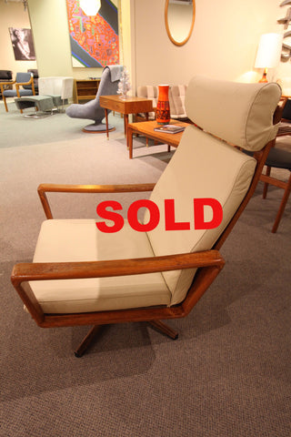 Vintage Danish Teak Swivel Lounge Chair (Arne Wahl Iverson Komfort)