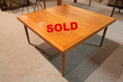 "Vintage Square Teak Coffee Table / Side Table (31"" x 31"" x 15.5""H)"