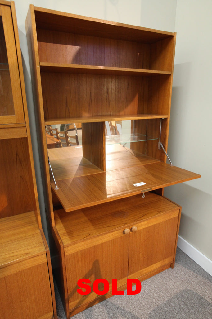 "Single Teak Wall Unit (2 Piece) (35.5""W x 69""H x 18""D)"