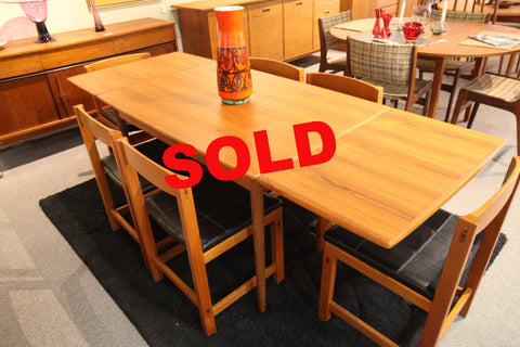 "Danish Teak Extension Table (84"" x 32.5"") or (48"" x 32.5"")"