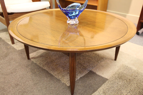 "Round Deilcraft Walnut Coffee Table (38"" Round x 15.25""H)"