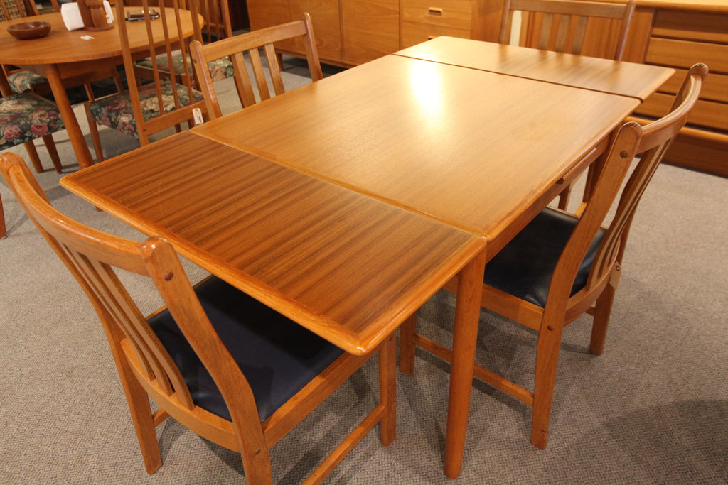 "Danish Square Teak Extension Table (59.5"" x 33"") or (33"" x 33"")"