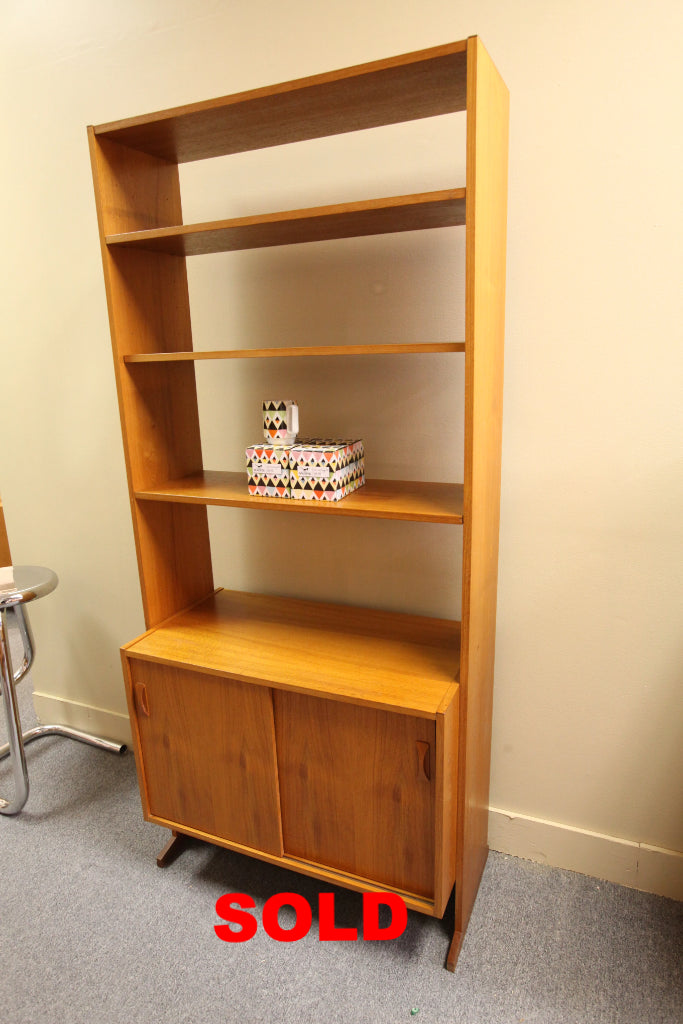 "Danish Teak Wall Unit (72.75""H x 33""W x 16.75""H)"