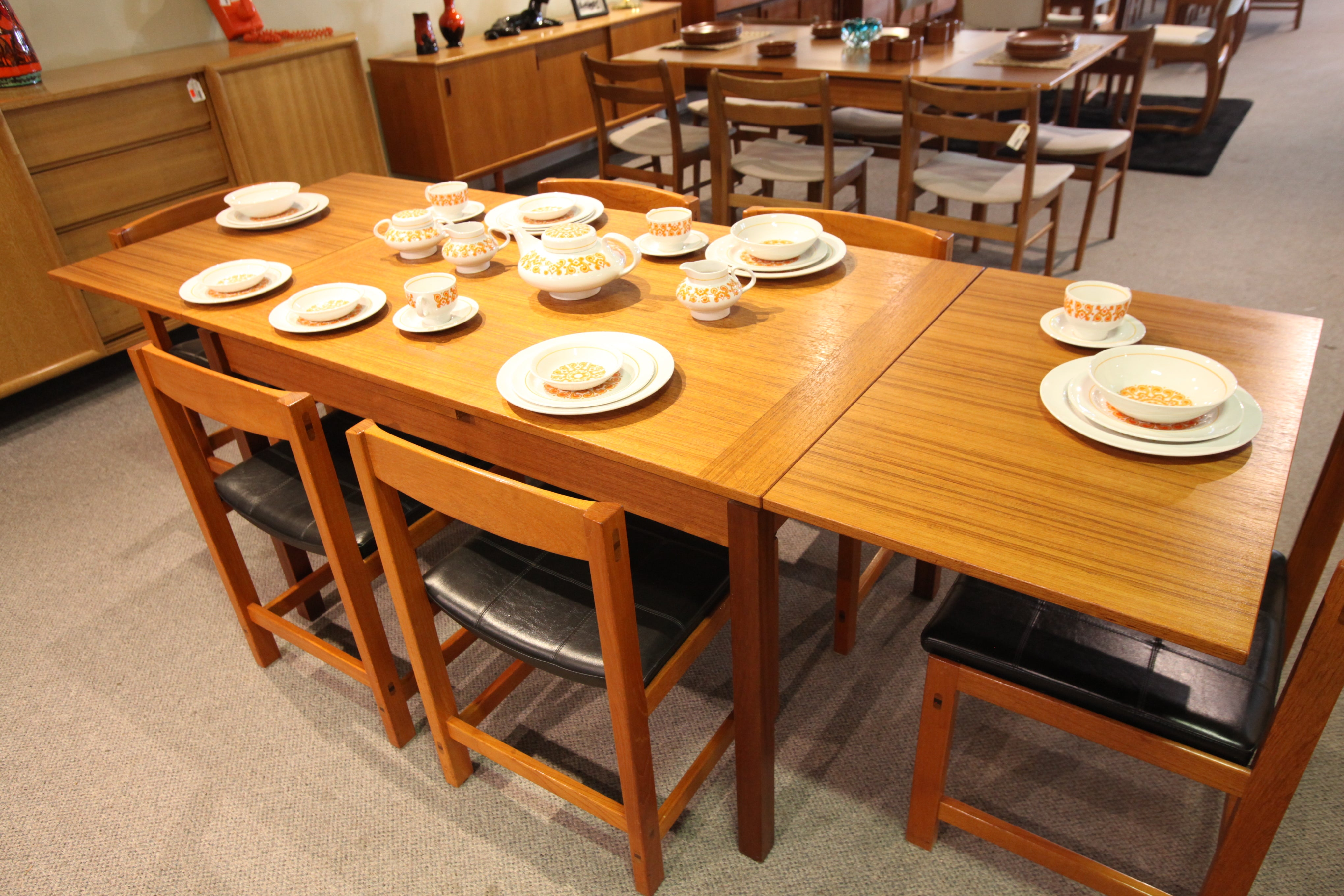 "Danish Teak Extension Table (31.5"" x 47.25"") or (31.5"" x 86.5"")"