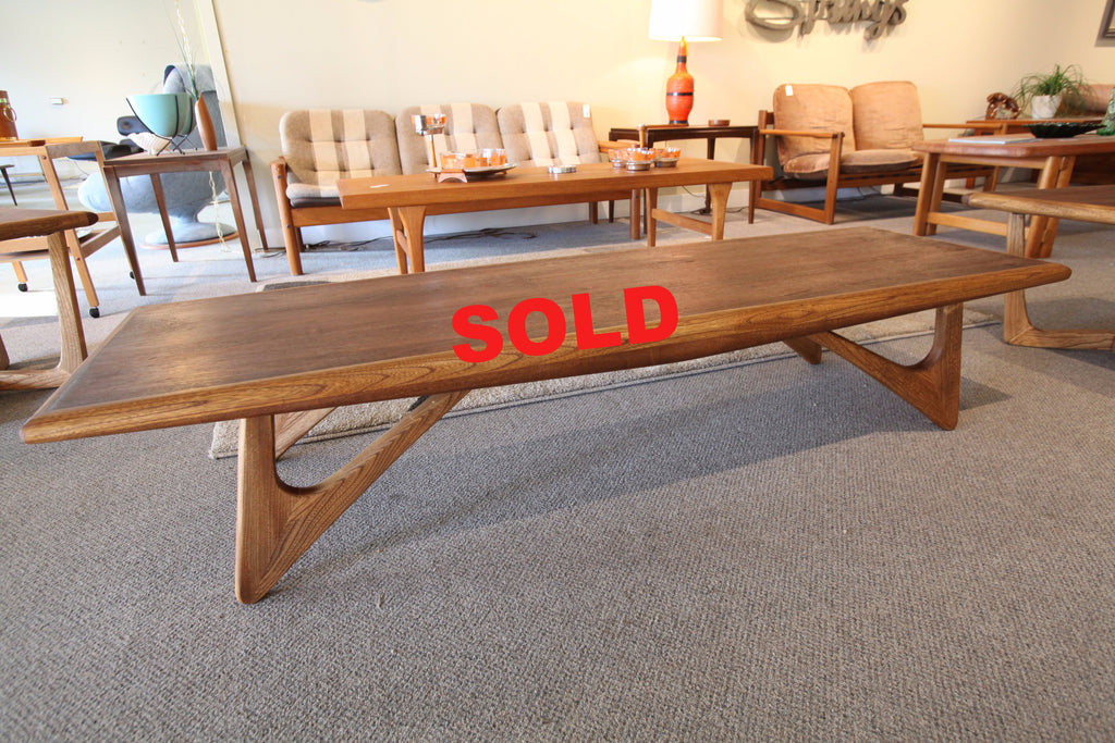 "Vintage Pearsal Style Coffee Table (70""L x 22""W x 14.5""H)"