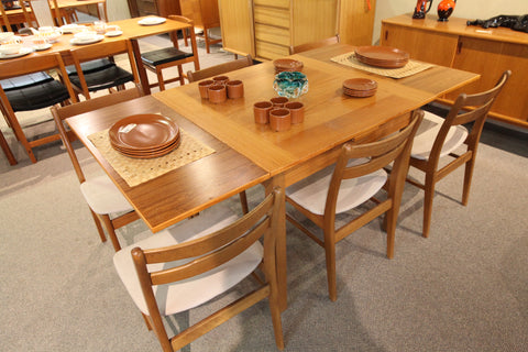 Danish Teak Extension Table (35.5 x 35.5) or (35.5 x 65.5)