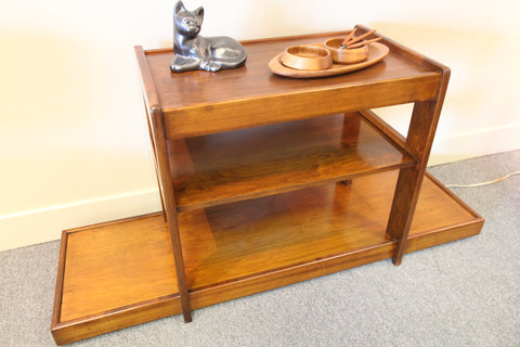 "Vintage Walnut 3 Level Shelf (53.5""W x 17""D x 26""H)"