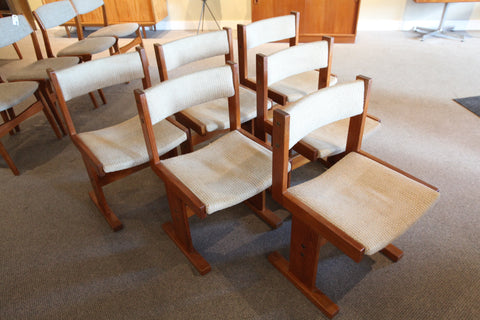 Set of 6 Gangso Mobler Danish Teak Chairs
