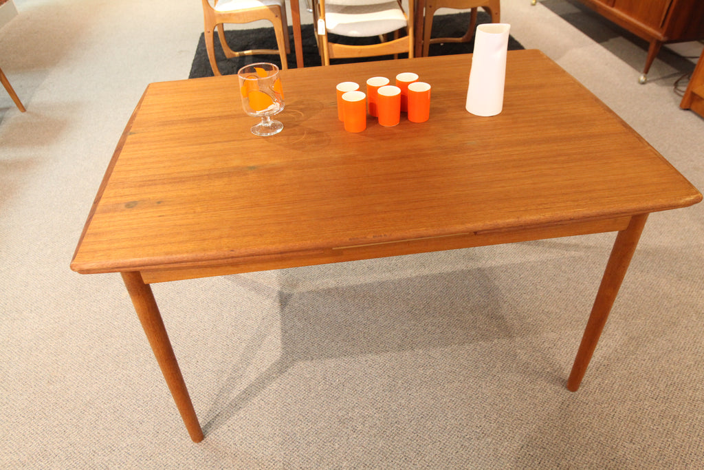"Danish Teak Extension Dining Table (84""x32.5"") or (48"" x 32.5"")"