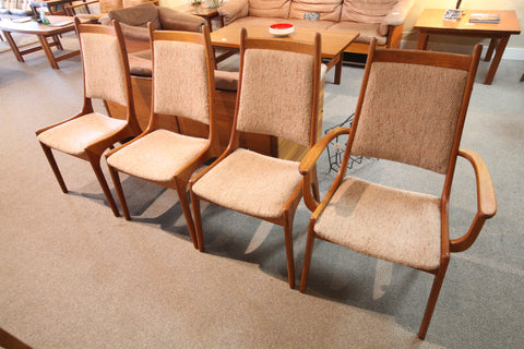 Set of 4 Teak Chairs (2 more available)