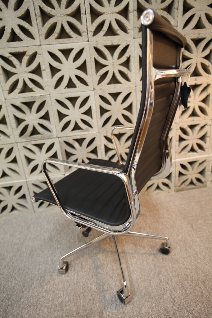 Eames Replica Leather Office Chair (Black High Back)