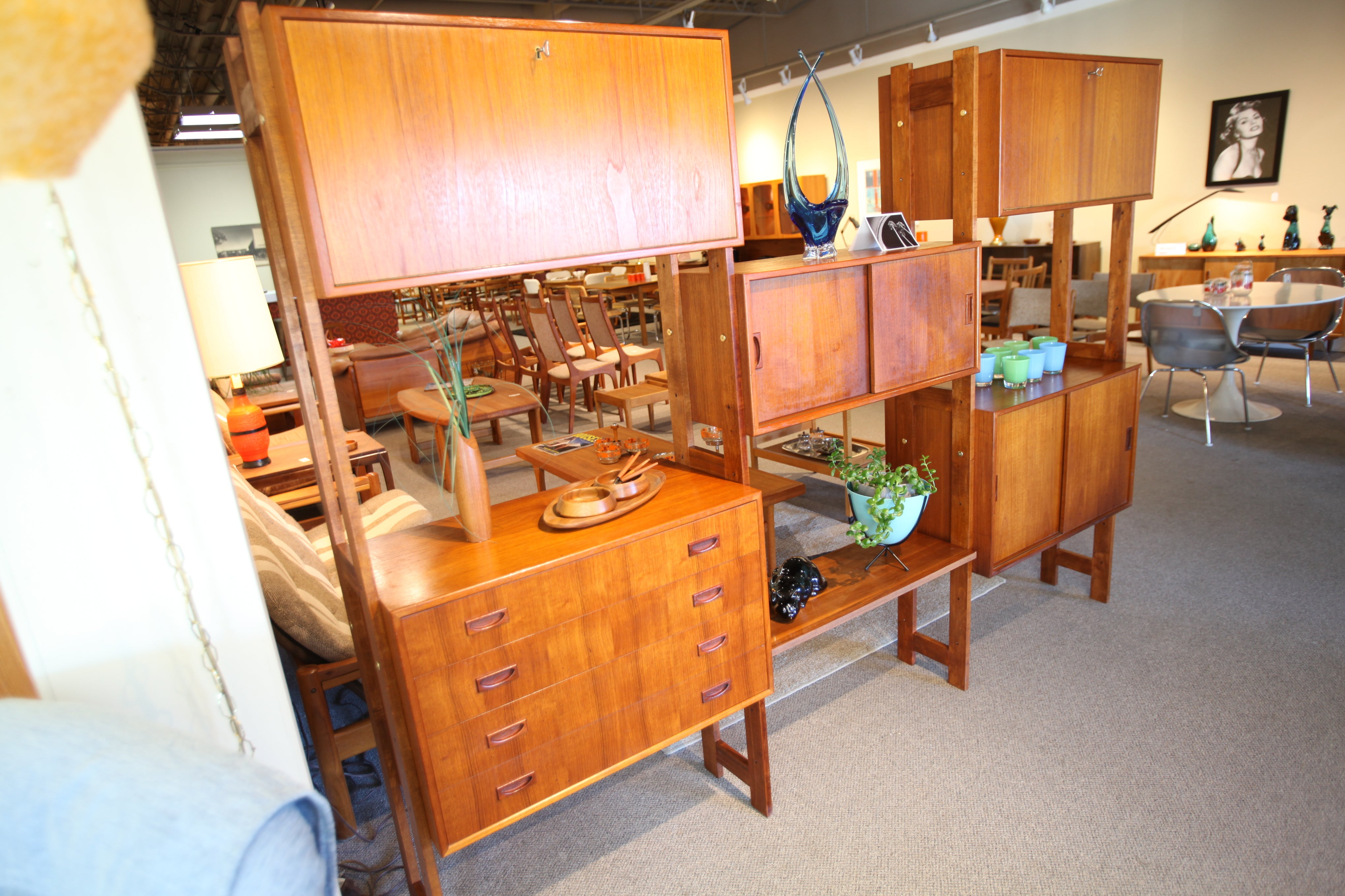 Vintage Danish Teak Wall Unit