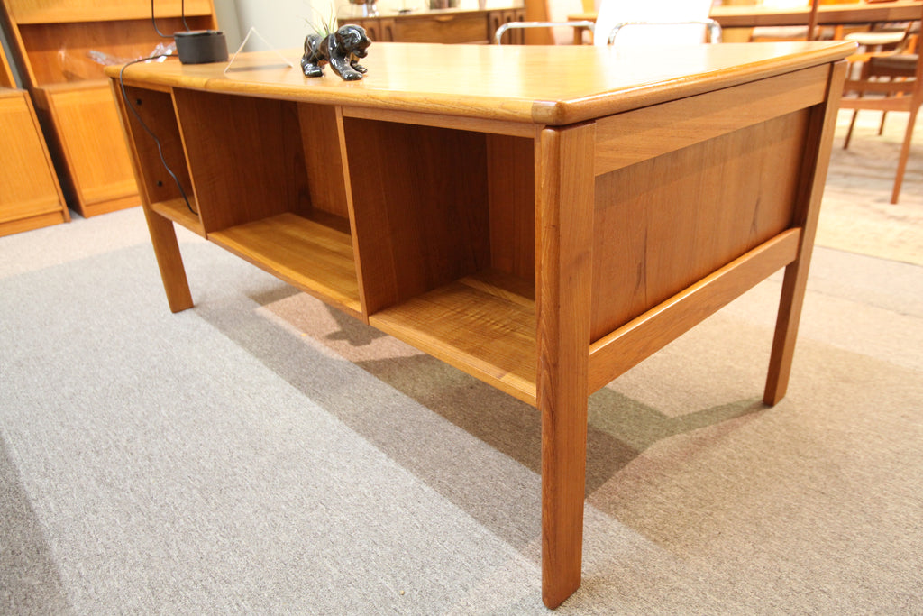 "Vintage Danish Teak Executive Deesk (61""L x 31.5""W x 28.25""H)"