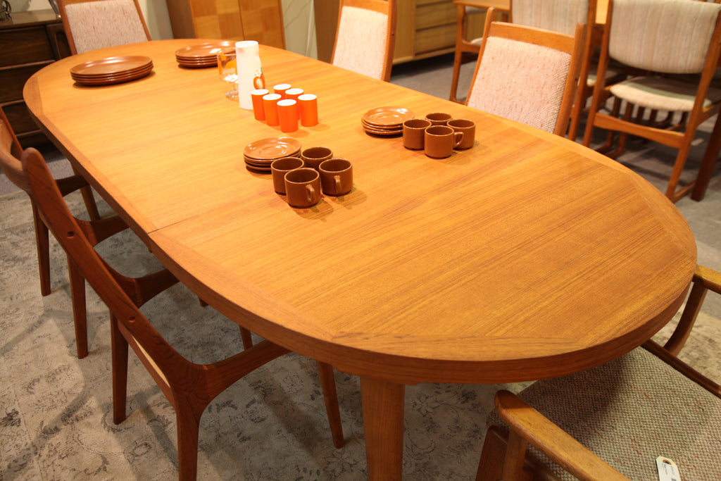 "Fabulous Danish Teak Dining Table w/ 2 Leafs (103""L x 42.5""W) or (64""L x 42.5""W)"