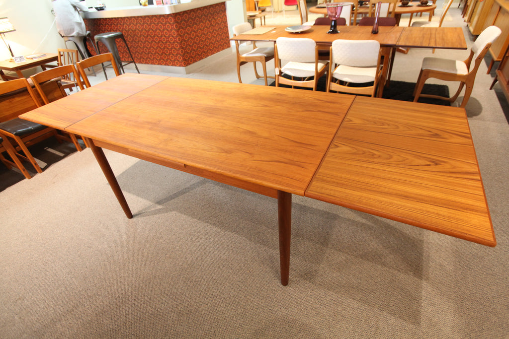 "Danish Teak Extension Dining Table (96.5""L x 35.5""W) or (55""L x 35.5""W)"