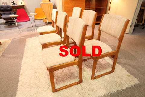 Set of 6 Vintage Heavy Quality Teak Chairs