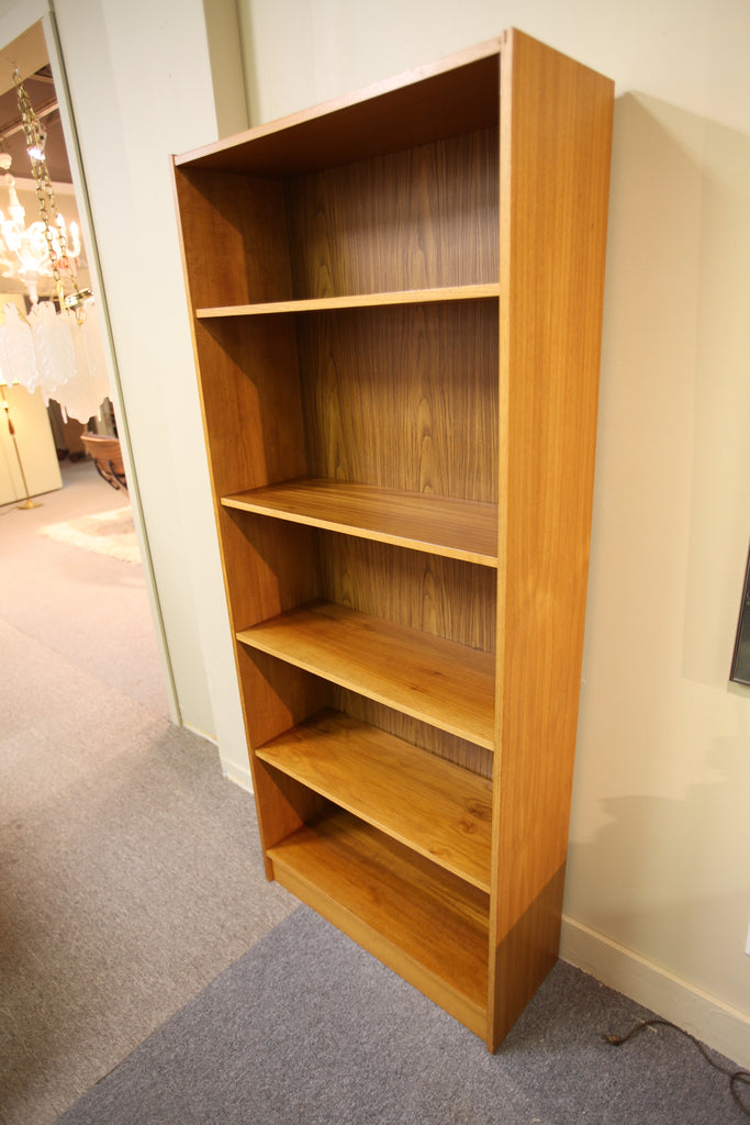 "Tall Danish Teak Bookshelf (72""H x 30.5""W x 11.75""D)"