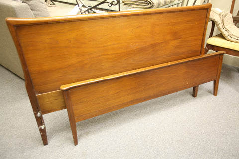 "Vintage Double Walnut Headboard and Footboard (56.5""W x 33.75""H)"