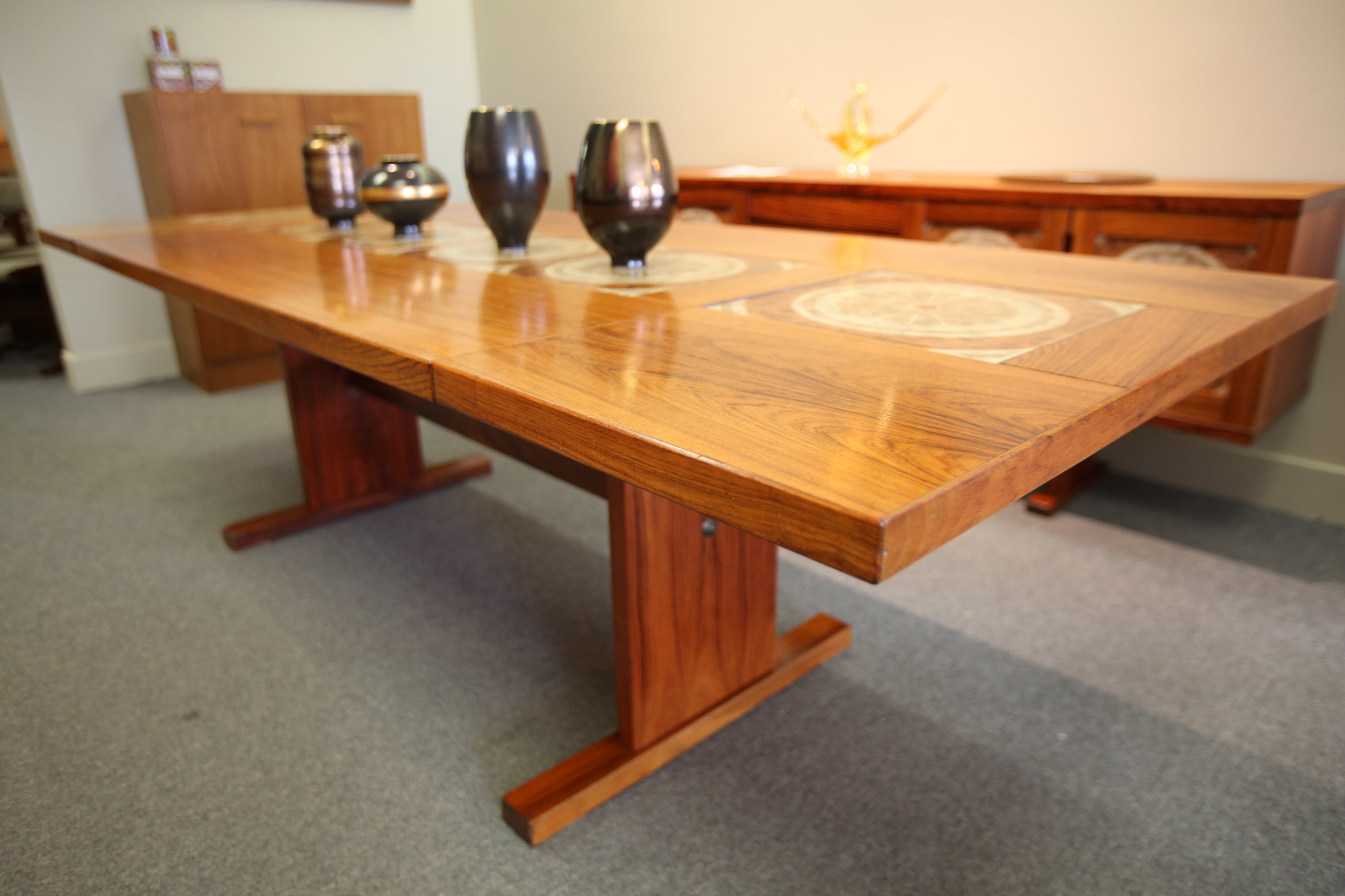 "Gangso Mobler Danish Rosewood / Tile Dining Table (96""L x 38""W) or (61""L x 38""W)"