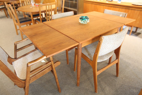 "Small Danish Teak Extension Table (60"" x 33.5"") or (33.5"" x 33.5"")"