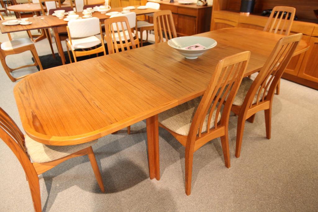 "Diethelm Scanstyle Teak Double Butterfly Leaf Table (97.5"" x 38"") or (57.5"" x 38"")"