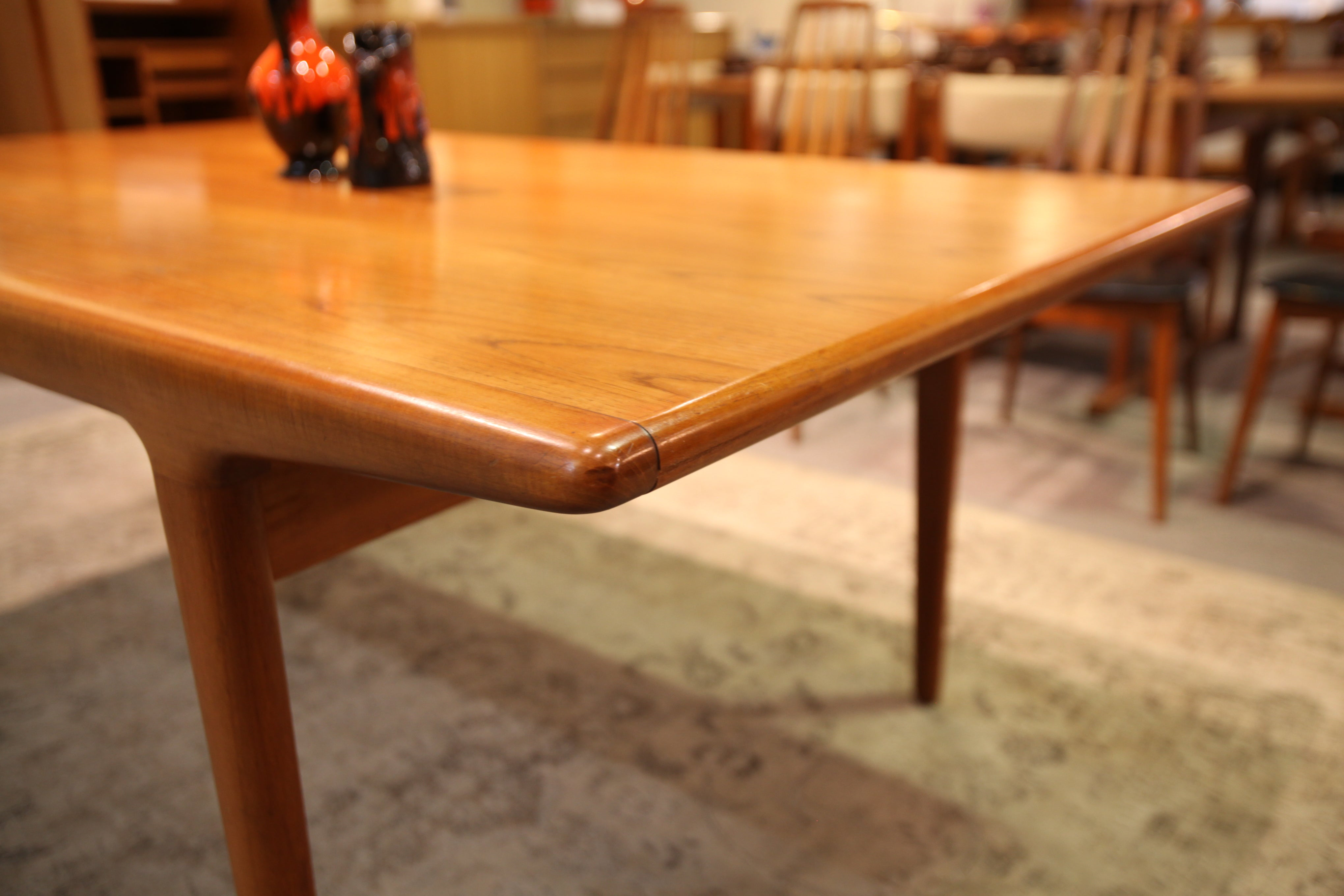 "Niels Moller Danish Teak Table w / Hidden Leafs (70.5 x 40.5) or (103.25"" x 40.5"")"