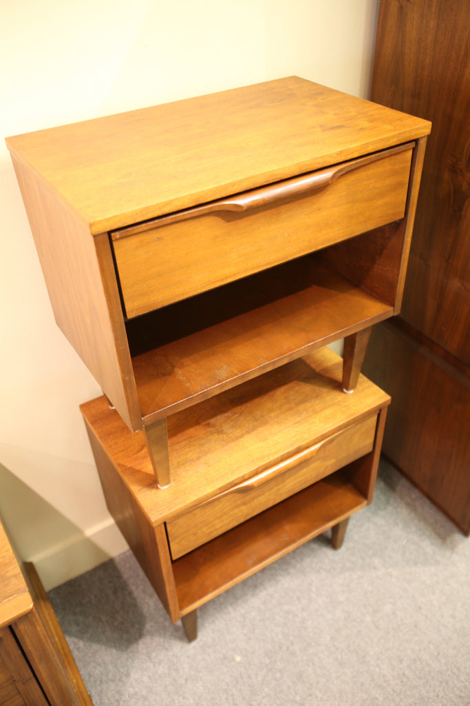 "Pair of Vintage Walnut Night Stands (22""W x 22.25""H x 14.5""D)"