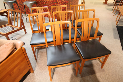 Set of 8 Vintage Teak Chairs
