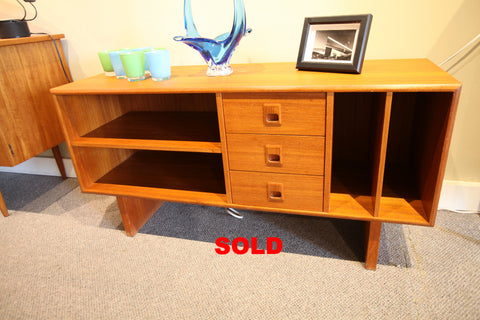 "Vintage Teak Sideboard / Stereo Stand (48""L x 16""D x 24""H)"