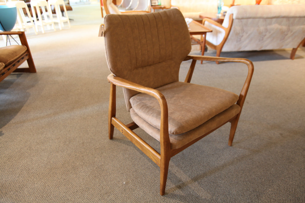 "Replica Wood Lounge Chair (28""W x 25""D x 33""H)"