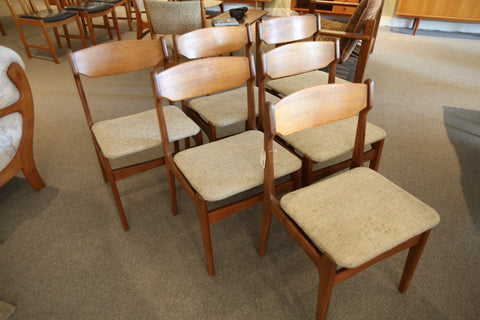Set of 6 Vintage Teak Dining Chairs