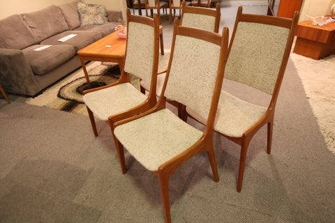 Set of 4 Vintage Danish Teak Chairs