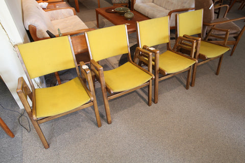Set of 2 Vintage (Mustard) Arm Chairs (8 Available)