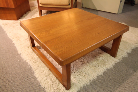 "Niels Bach Vintage ""Solid Teak"" Coffee Table (32"" x 32"" x 15.5""H)"