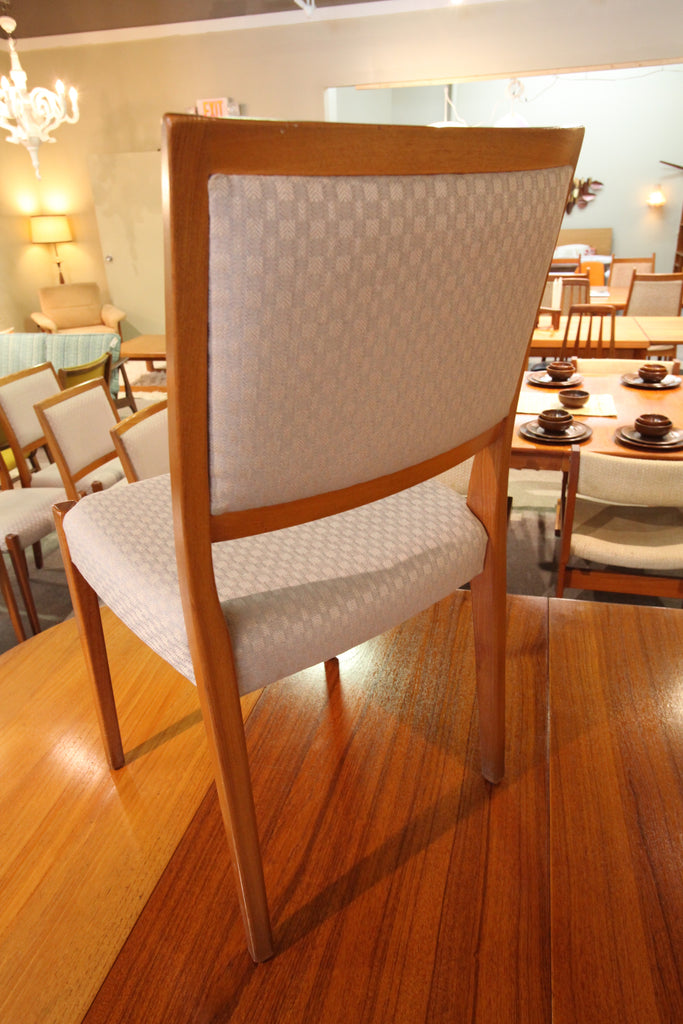 Set of 6 Mid Century Teak Dining Chairs