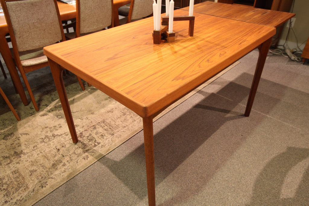 "Vintage Teak Extension Table w/ Hidden Leafs (82.75"" x 33"") or (47"" x 33"")"