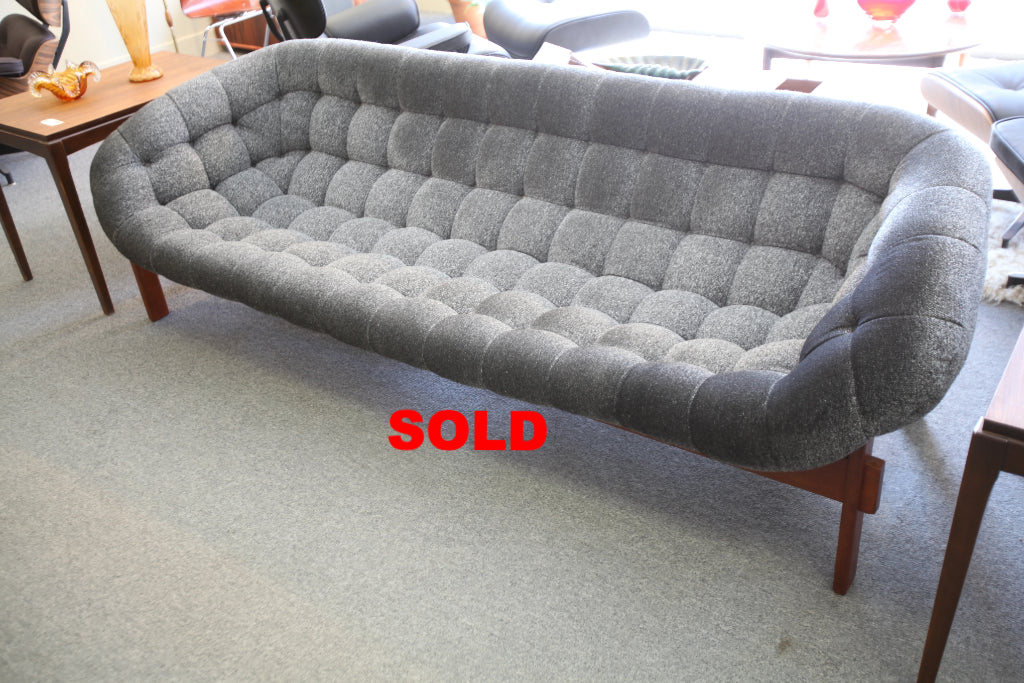 "Super Cool Vintage R. Huber Scoop Sofa (88"" Wide)"