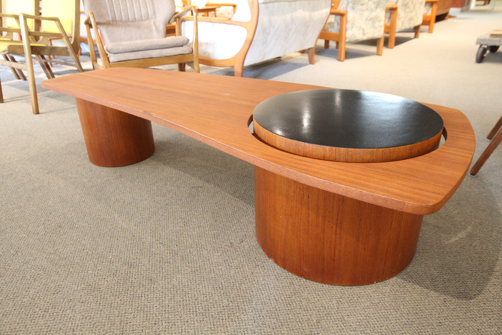 "Rare Vintage RS Montreal Teak Floating Coffee Table (67""L x 27""W x 15""H)"