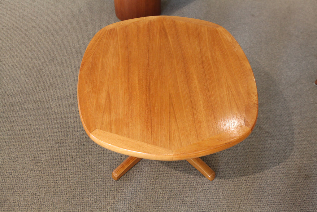 "Vintage Teak Side Table (27.75""x25""x 17.25""H)"